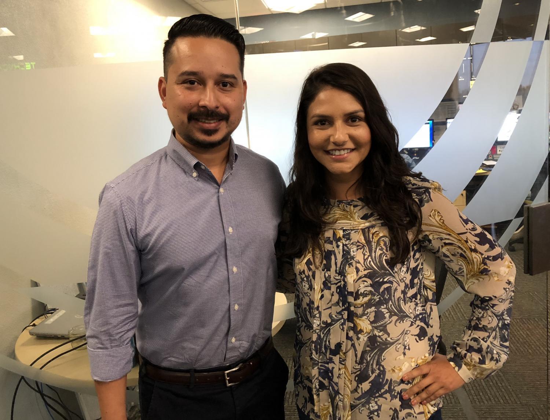 Newscap - Lorna Romero (right) with Roy Herrera