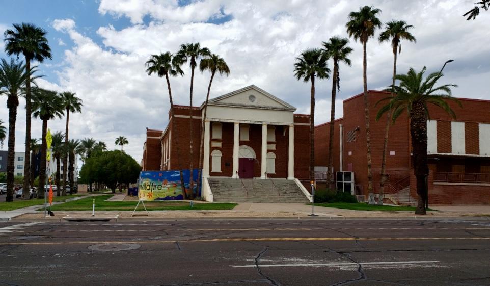 exterior of former church
