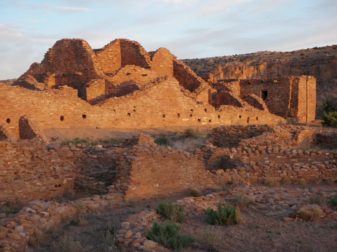 Chaco, Canyon, Pueblo, Ruins