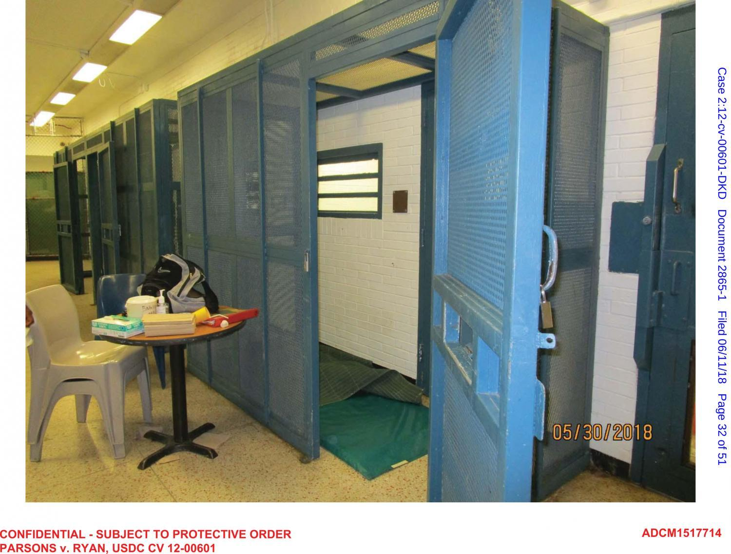cages at Baker Ward at Arizona State Prison Complex - Phoeni