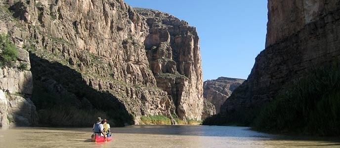 Canoers enter Boquillas Canyon