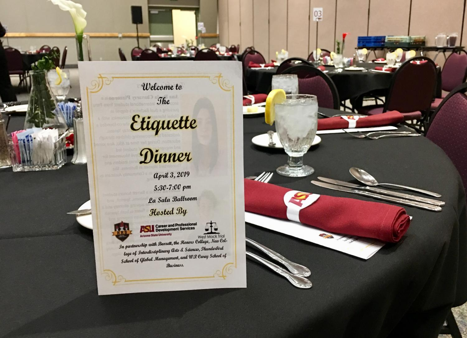 place setting with dinner invite