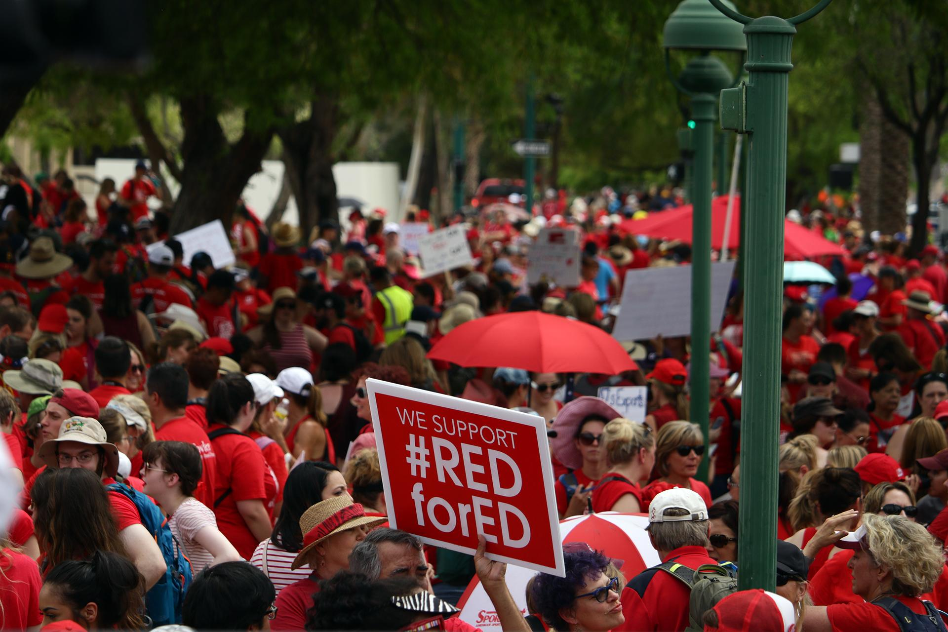 RedForEd rally