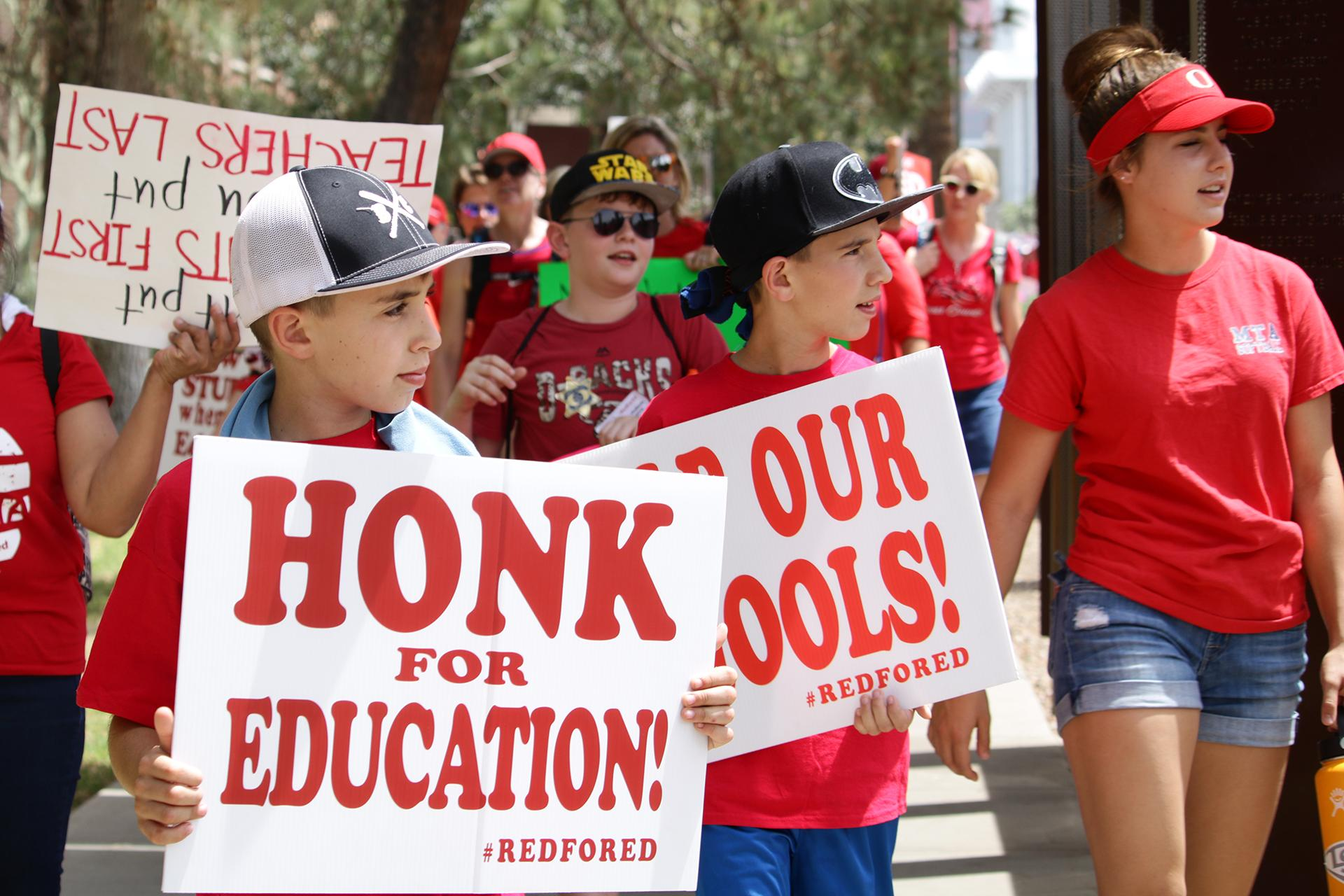 RedForEd march