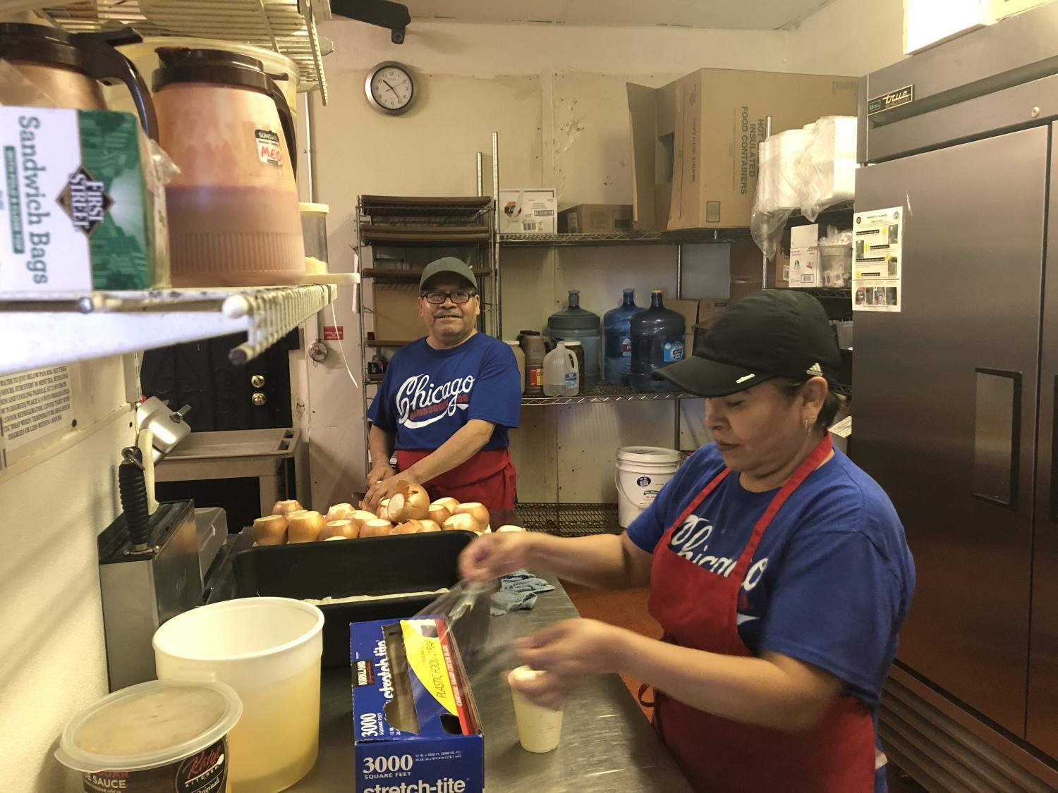 employees preparing food