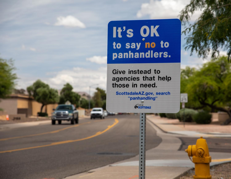 Scottsdale panhandler sign