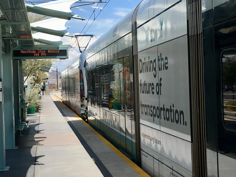 stopped train at platform