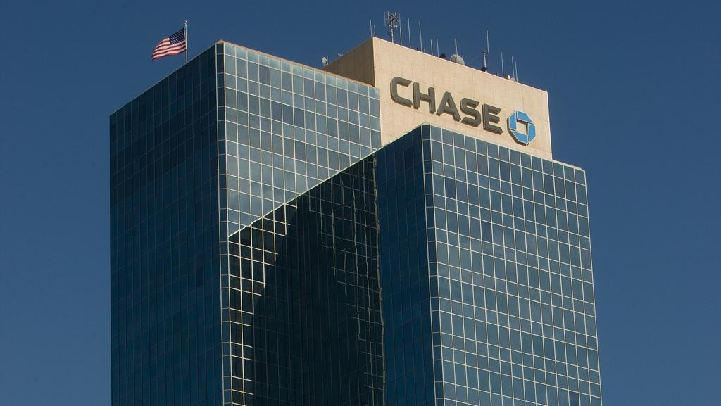 chase name and logo on top of building