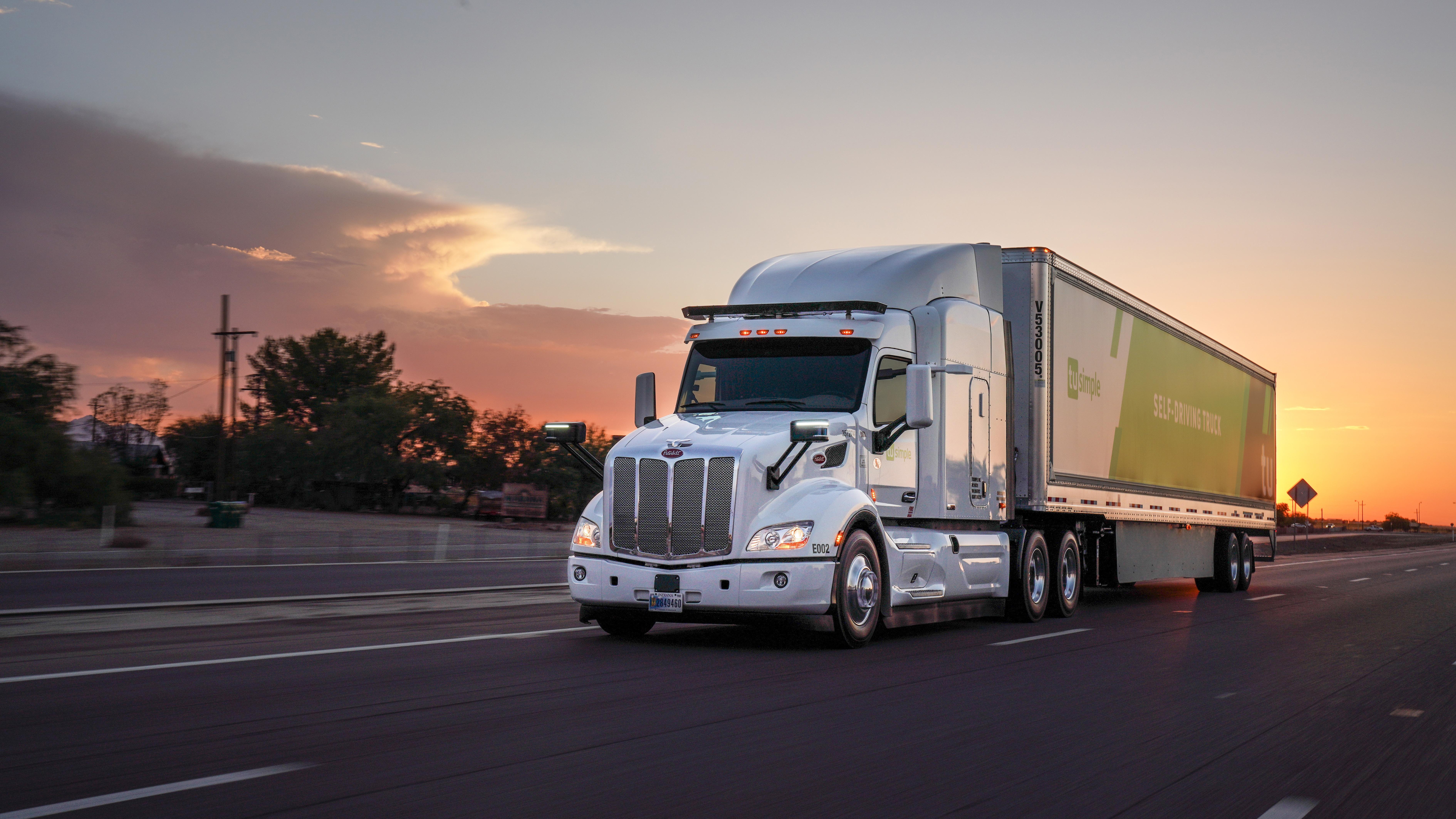 TuSimple self-driving truck autonomous vehicle