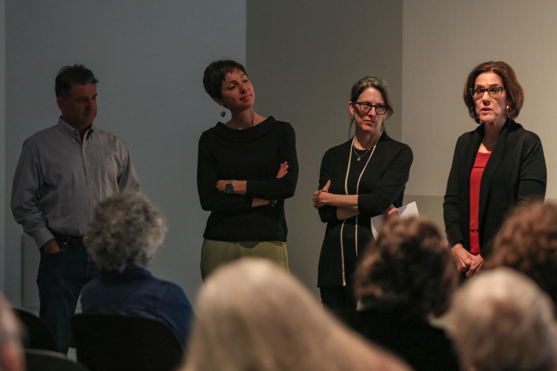 David Asser (left to right), Janice Friebaum, Deborah Sussman and Linda Burt Pressman