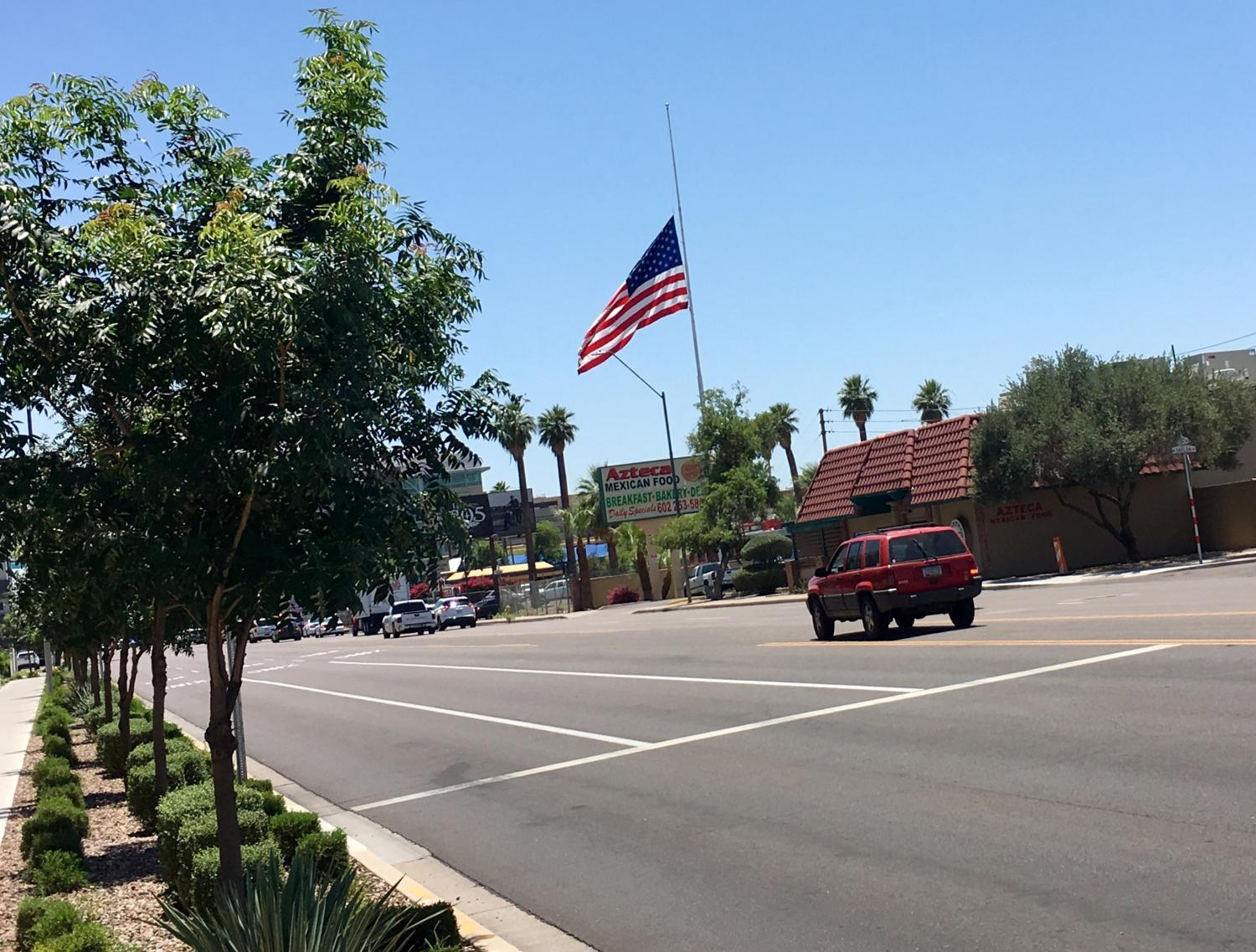 flag flying half staff