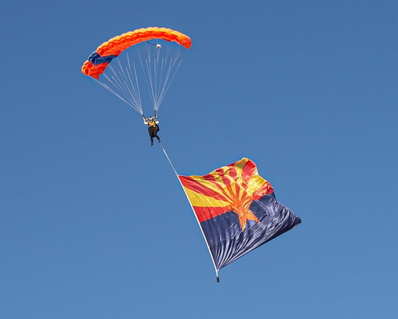 WSN Pro team member flying an Arizona flag
