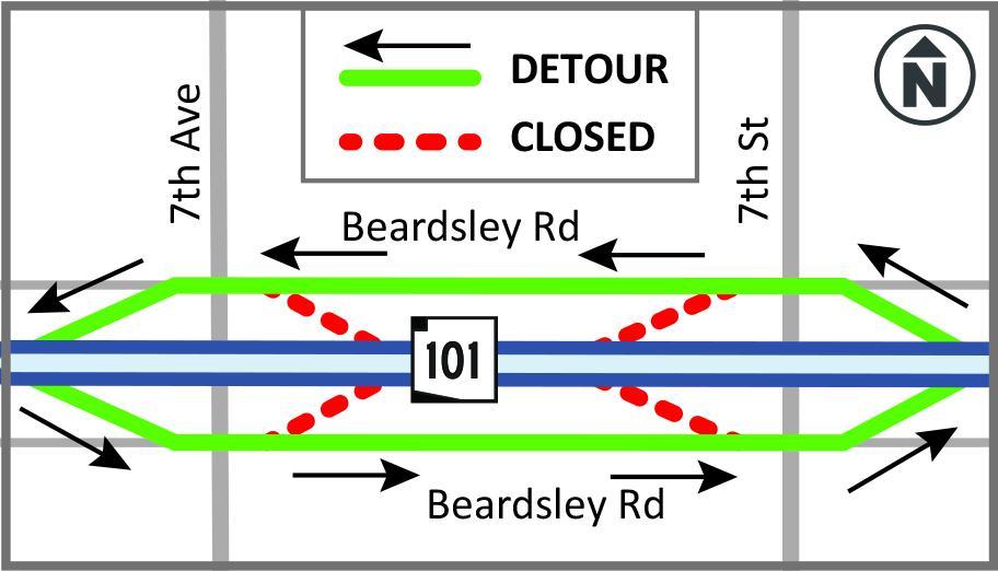 Loop 101 Beardsley ramp closure