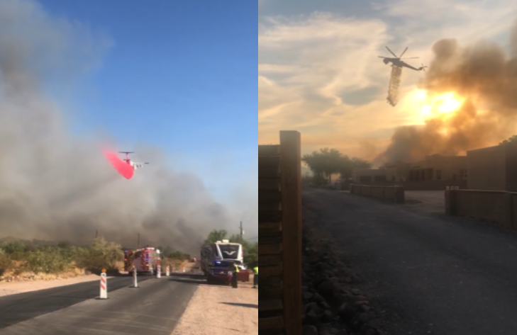 Aquila Fire in north Phoenix