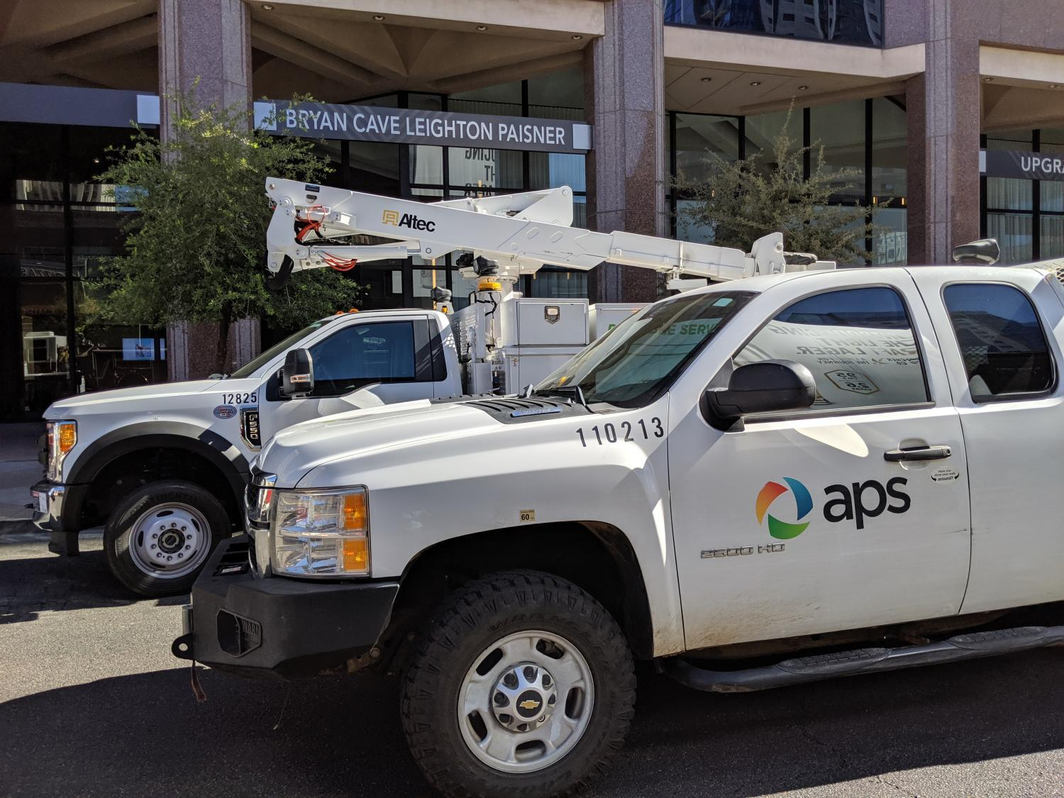APS truck downtown