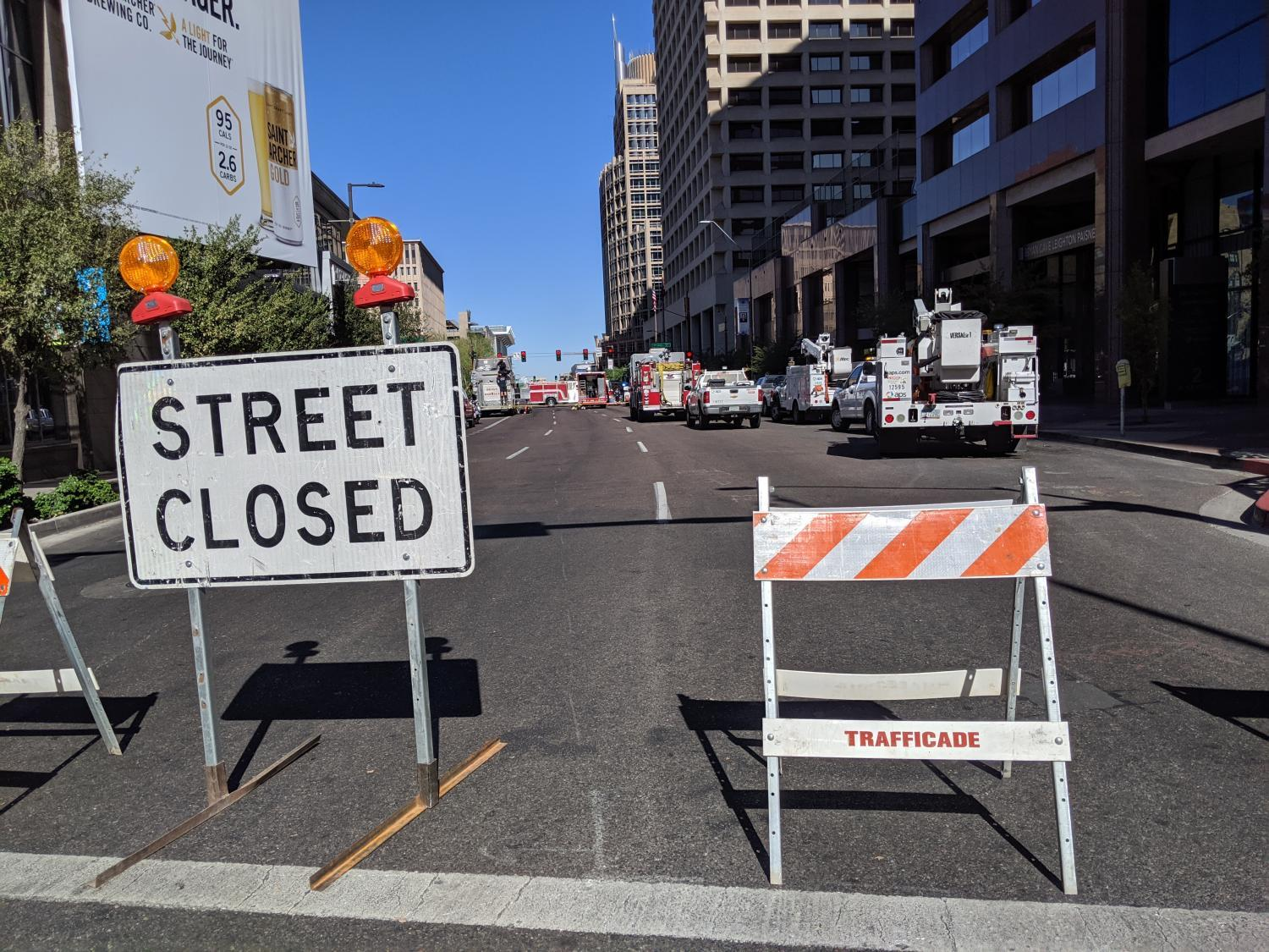 street closed downtown