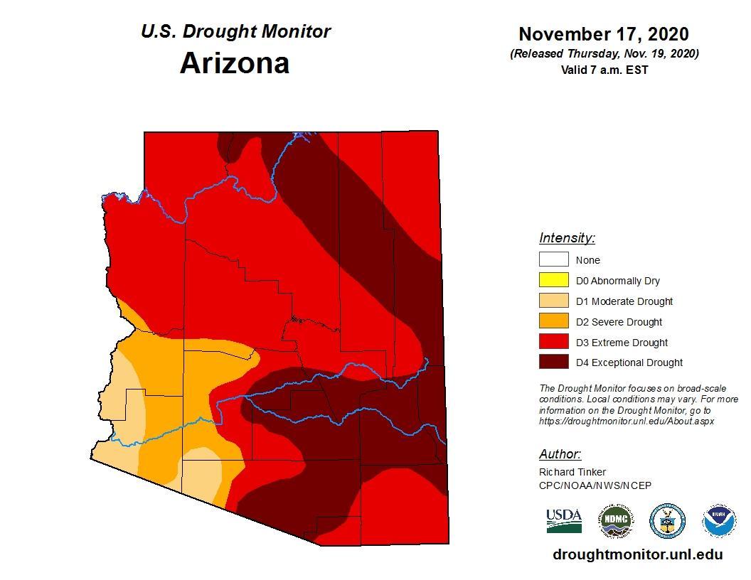 Arizona drought Nov. 2020