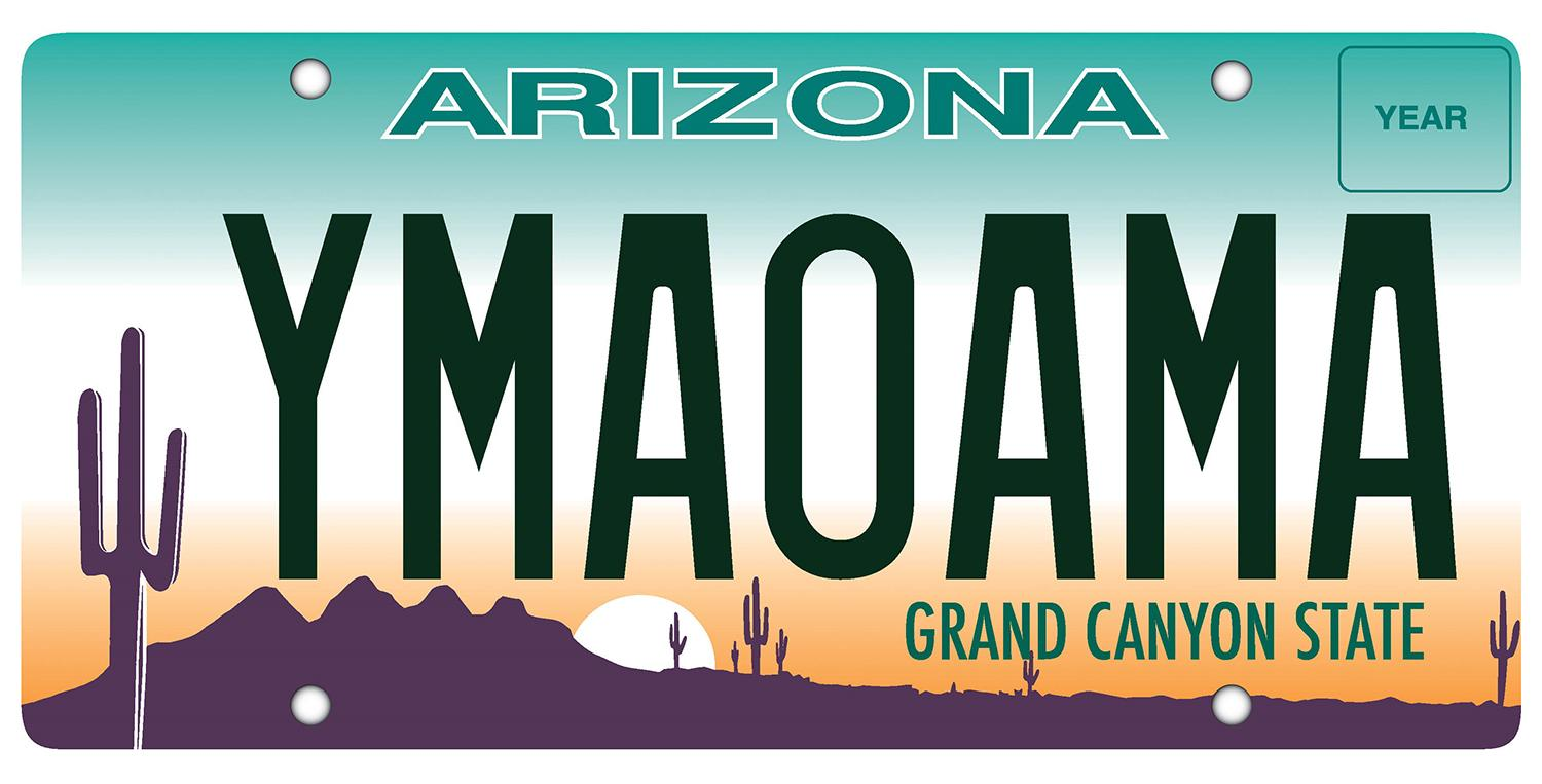 Arizona license plate random sequencing