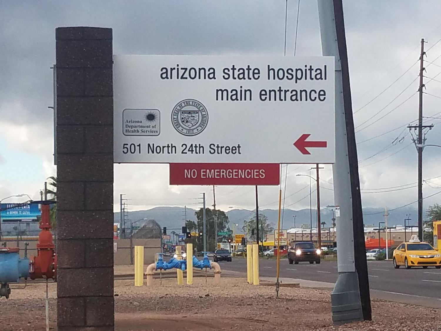 entrance of the Arizona State Hospital