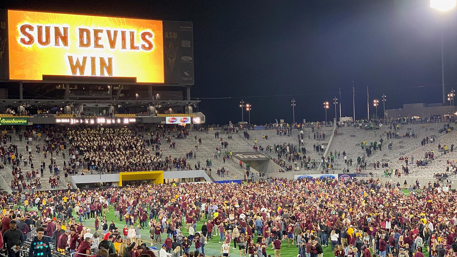 ASU Football Sun Devil Stadium win over Oregon