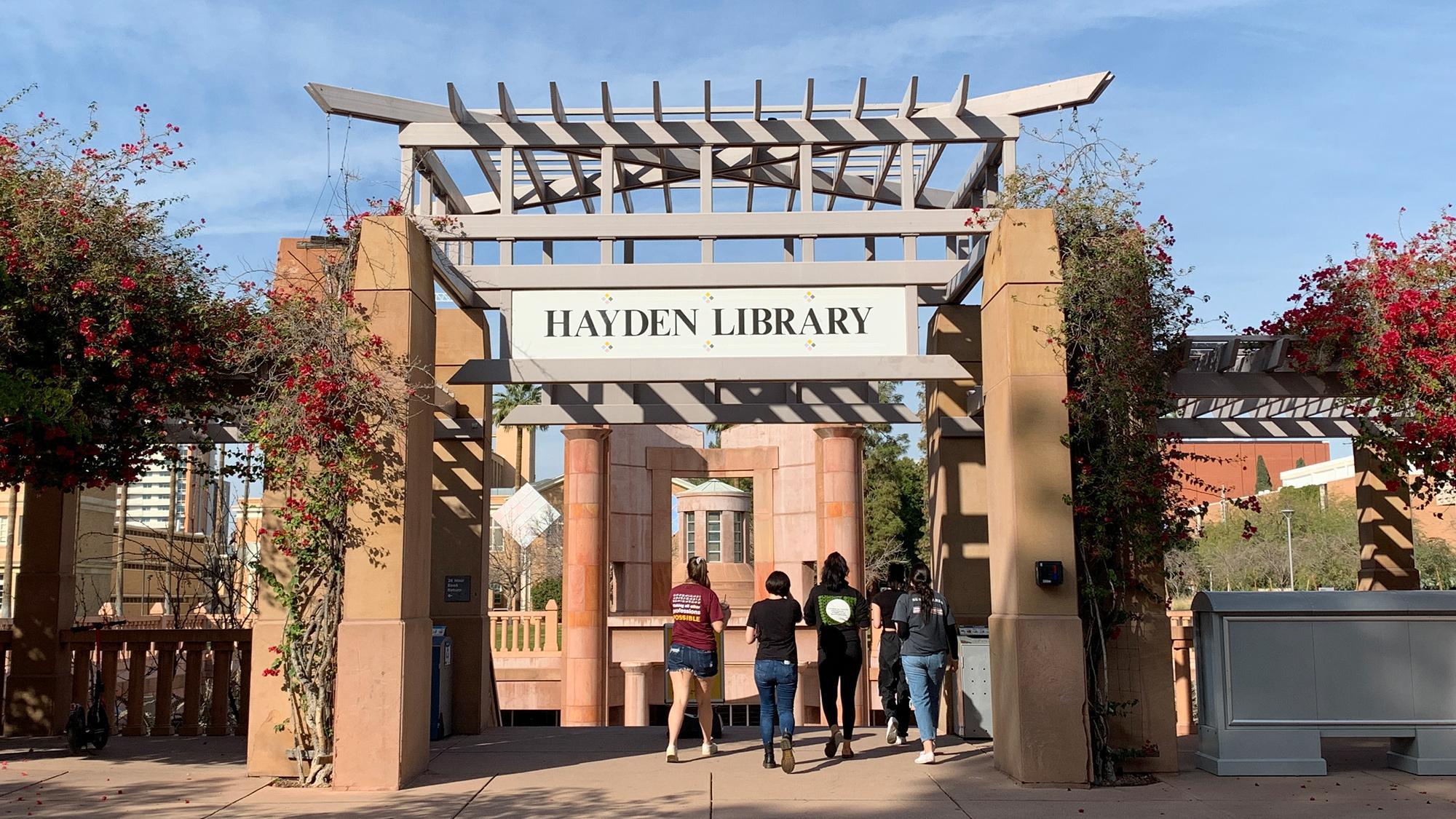 ASU Hayden Library entrance