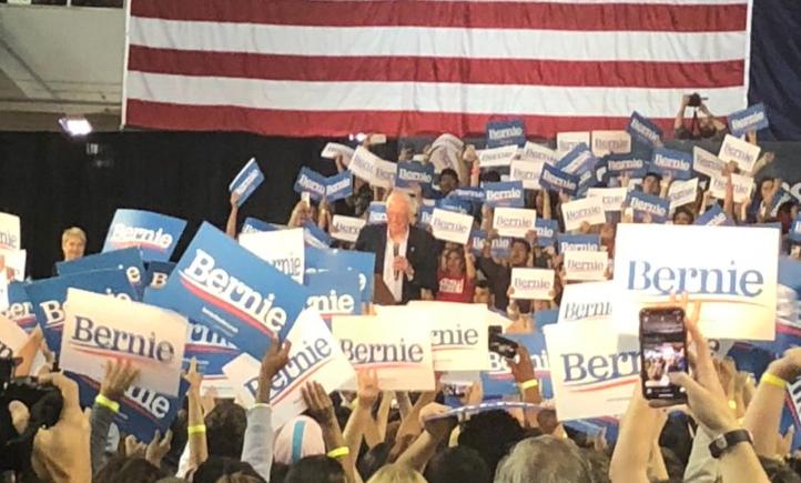 Sen. Bernie Sanders speaks at a rally in Phoenix