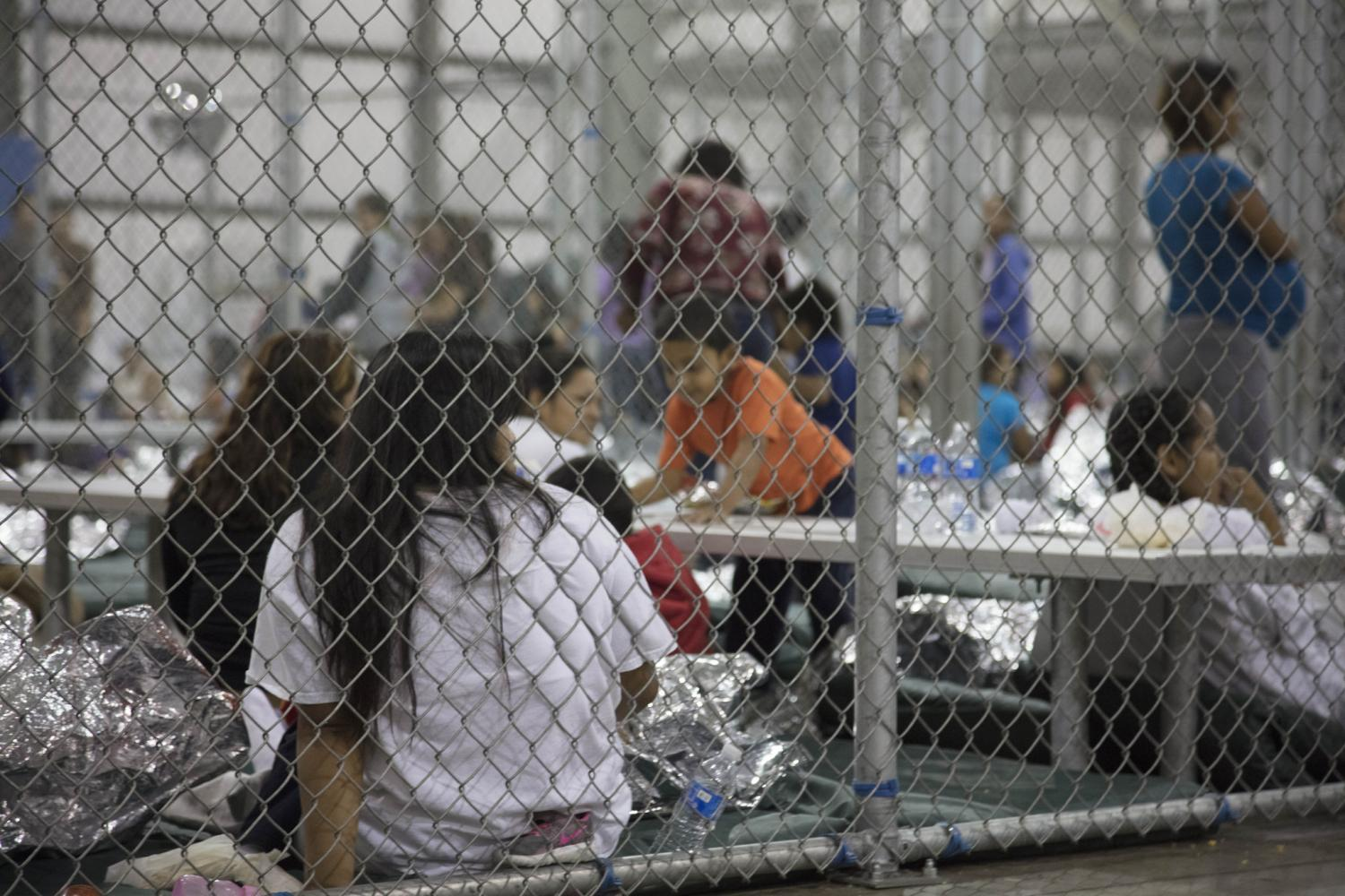 migrants at the Central Processing Center in McAllen, Texas