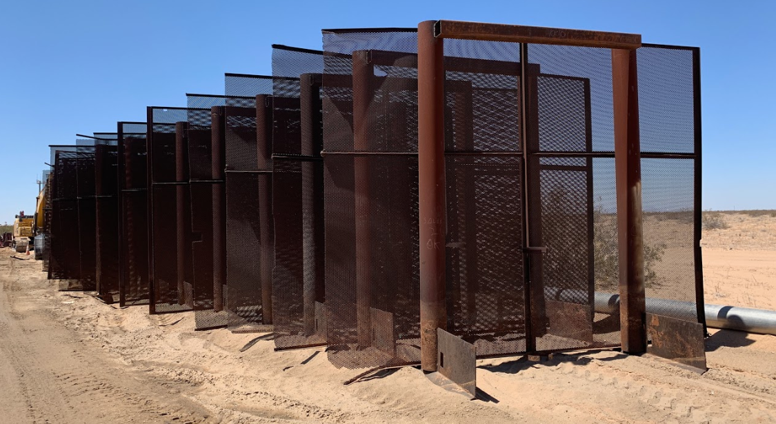 sections of border fence at the U.S.-Mexico border