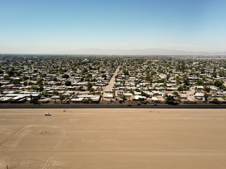 The U.S.-Mexico border near Calexico, California