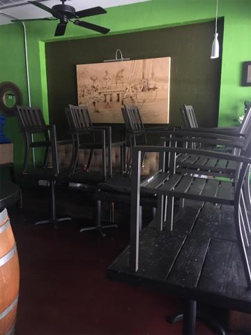 Breadfruit Rum Bar closed empty chairs
