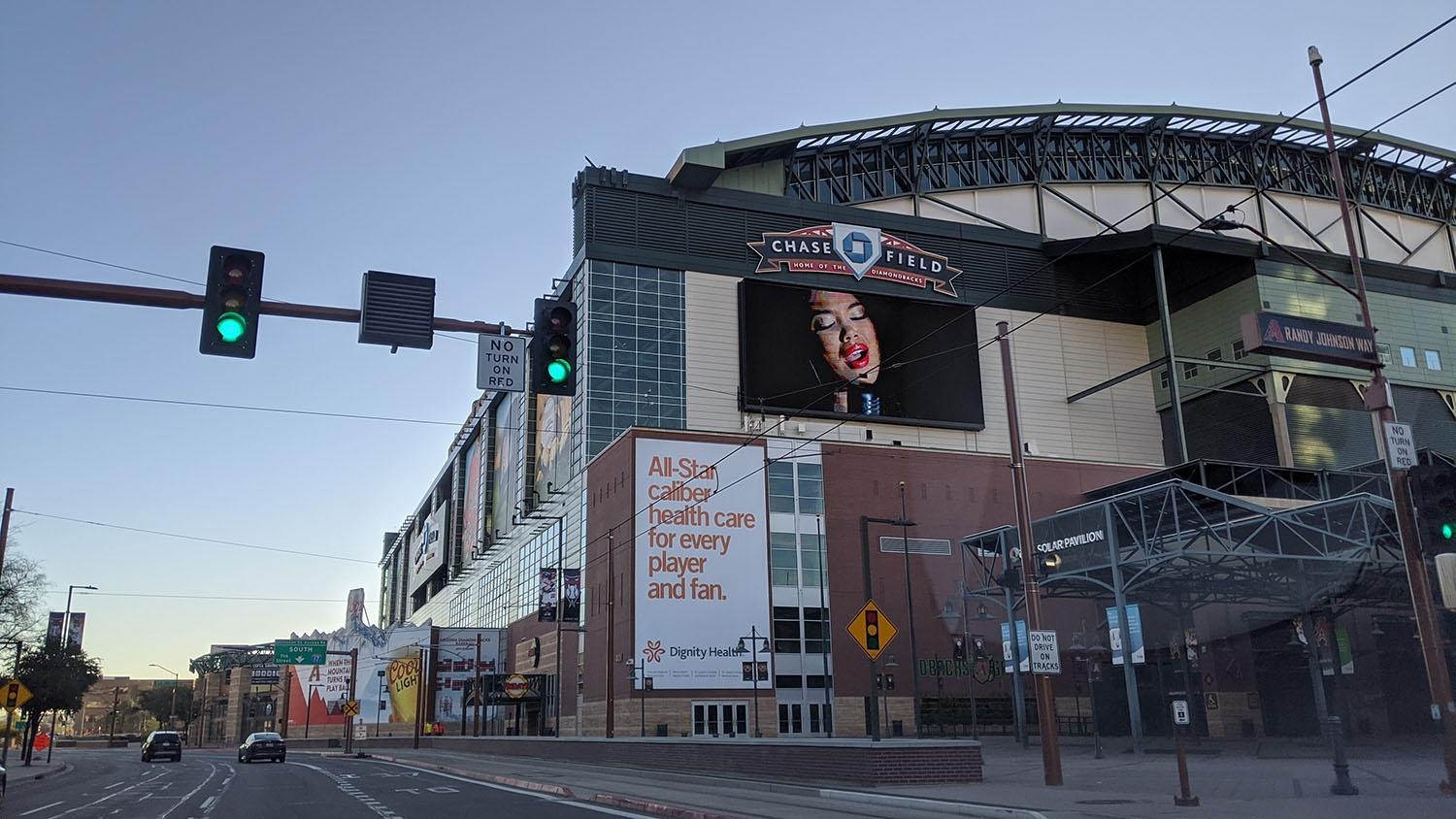 Chase Field in downtown Phoenix