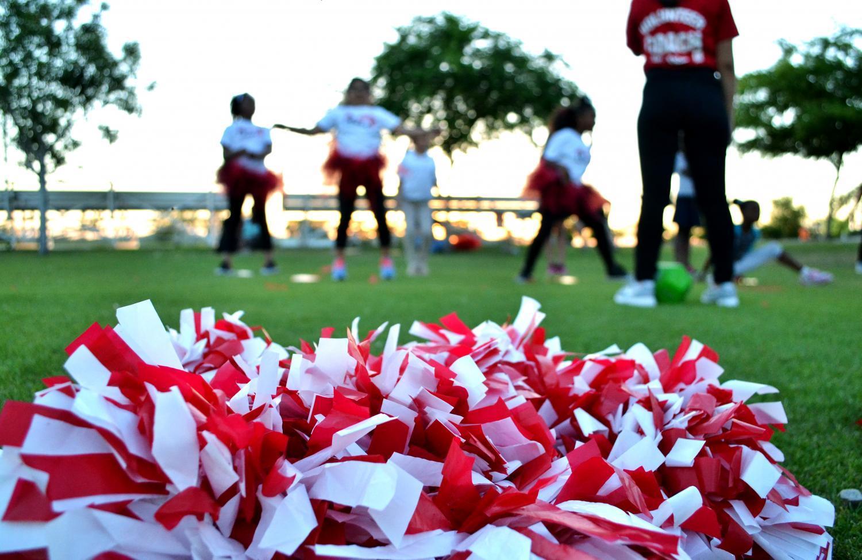 cheerleading poms