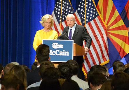 Cindy McCain with Sen. John McCain