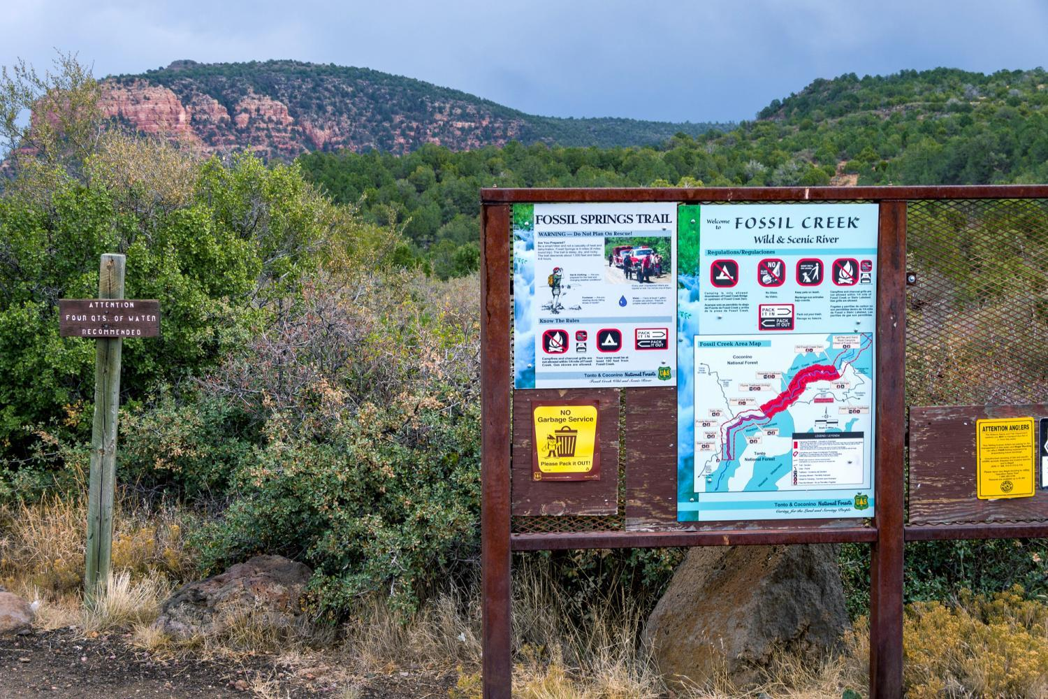 coconino national forest fossil creek trail