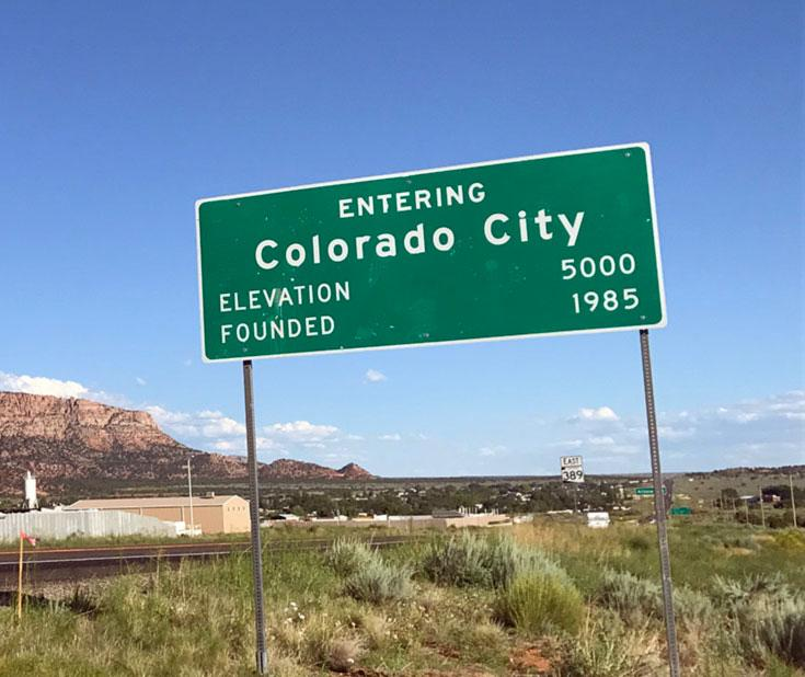 Colorado City sign
