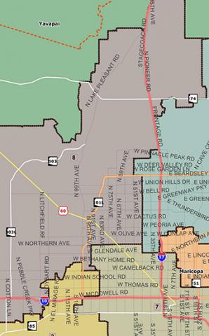 map of Arizona