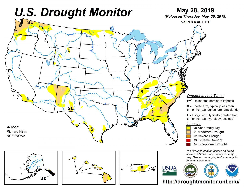 Drought map May 2019