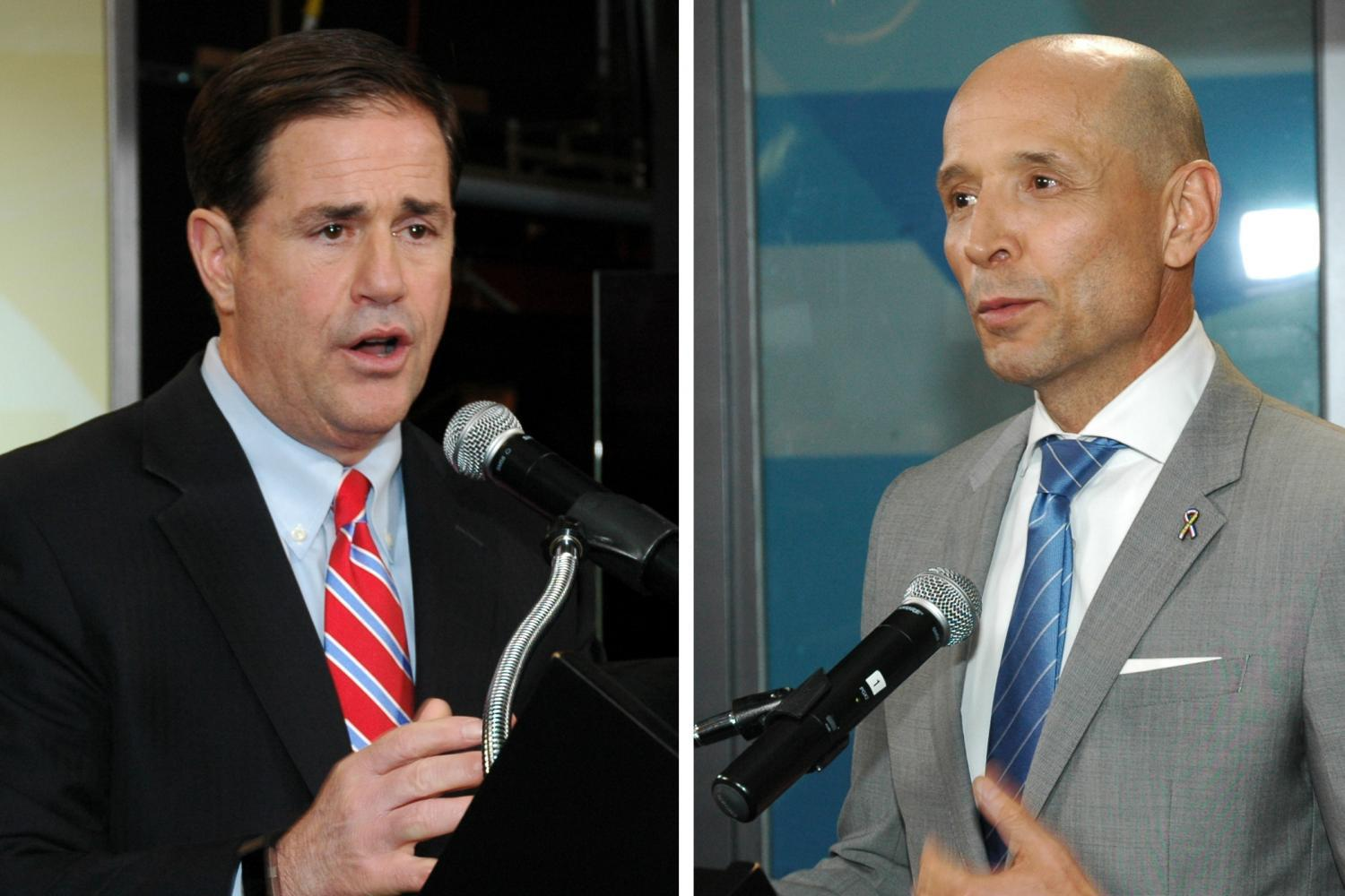 Doug Ducey and David Garcia