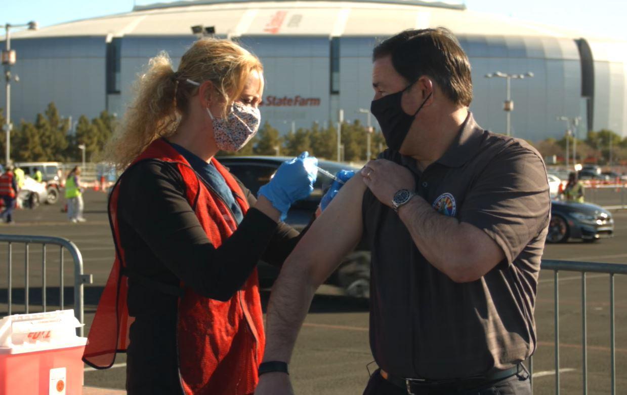 Gove. Doug Ducey gets a COVID-19 vaccine