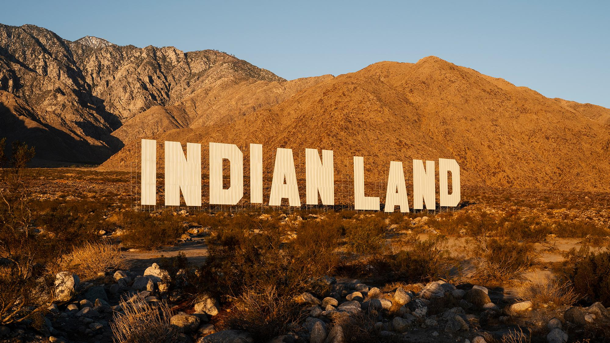 Nicholas Galanin Never Forget Indian Land sign