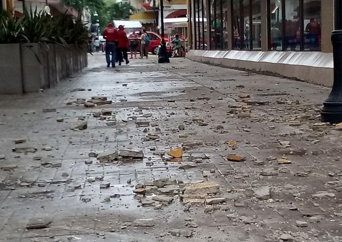 Earthquake damage in Tabasco, Mexico