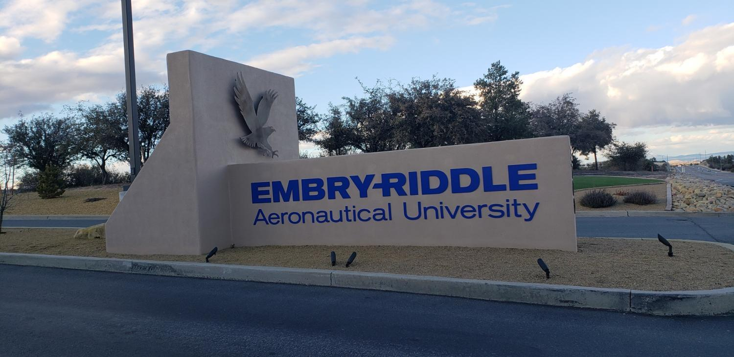 Embry-Riddle sign.
