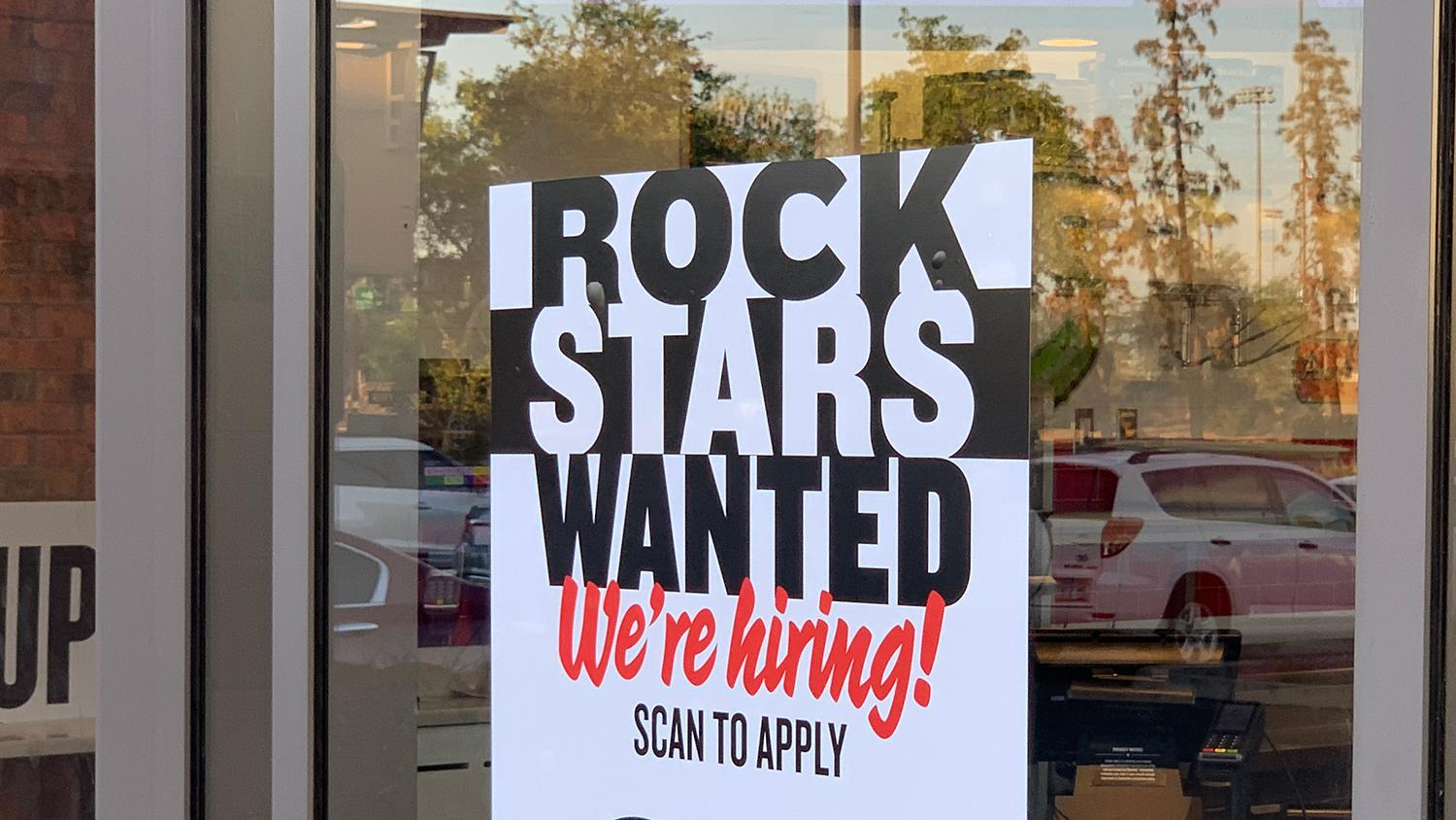 Jimmy Johns Rock Stars Wanted Now Hiring Sign