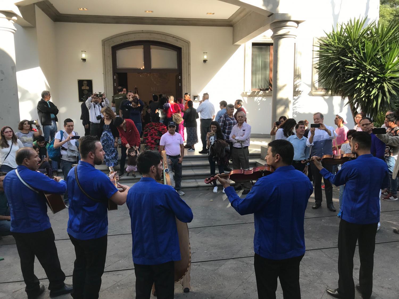 Music teachers performing