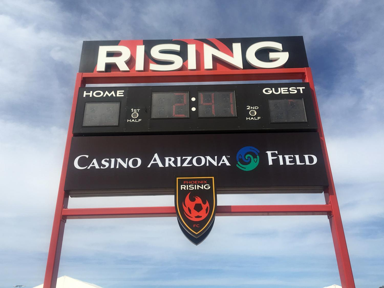Casino Arizona Field sign
