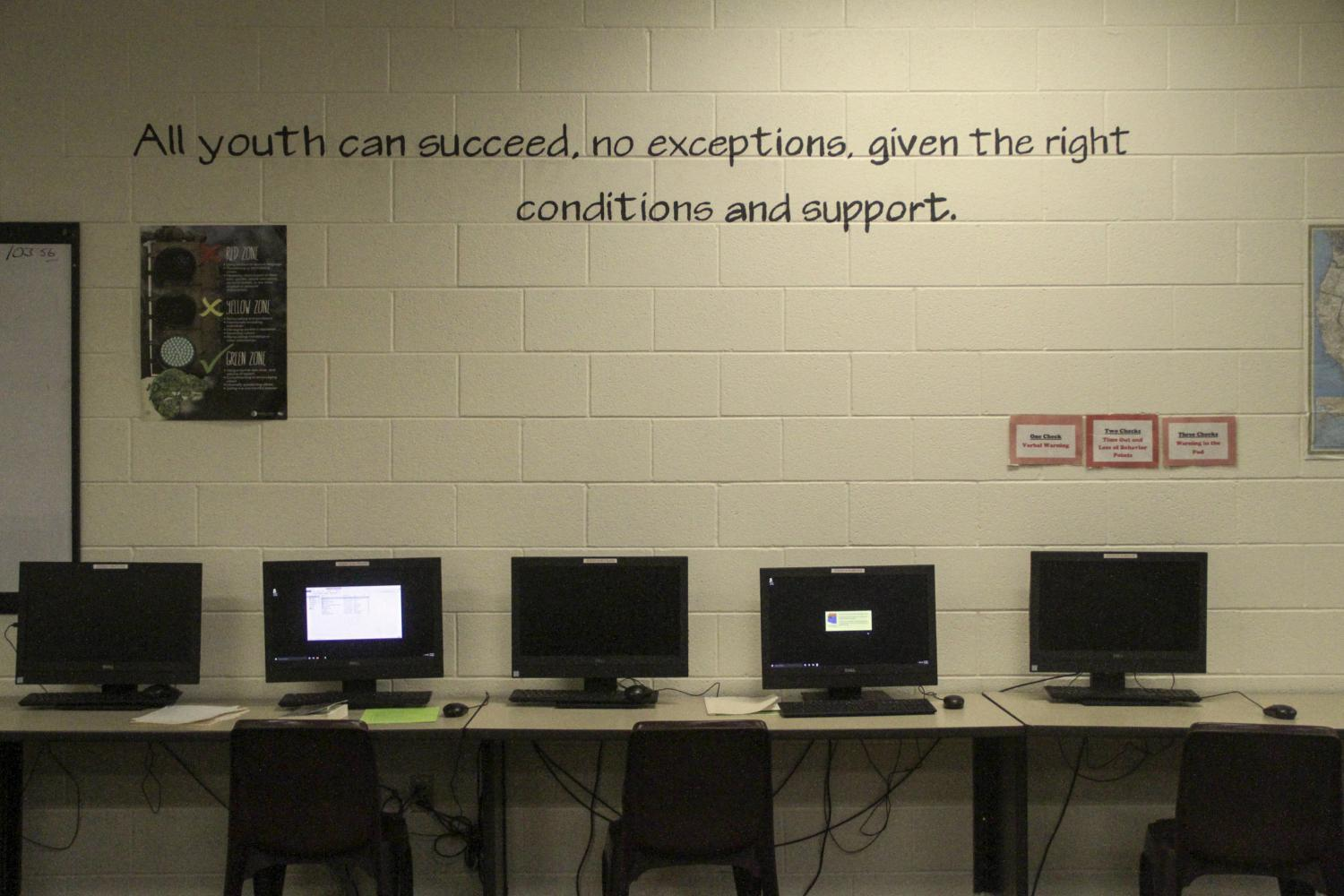 Yavapai County Juvenile Justice Center classroom