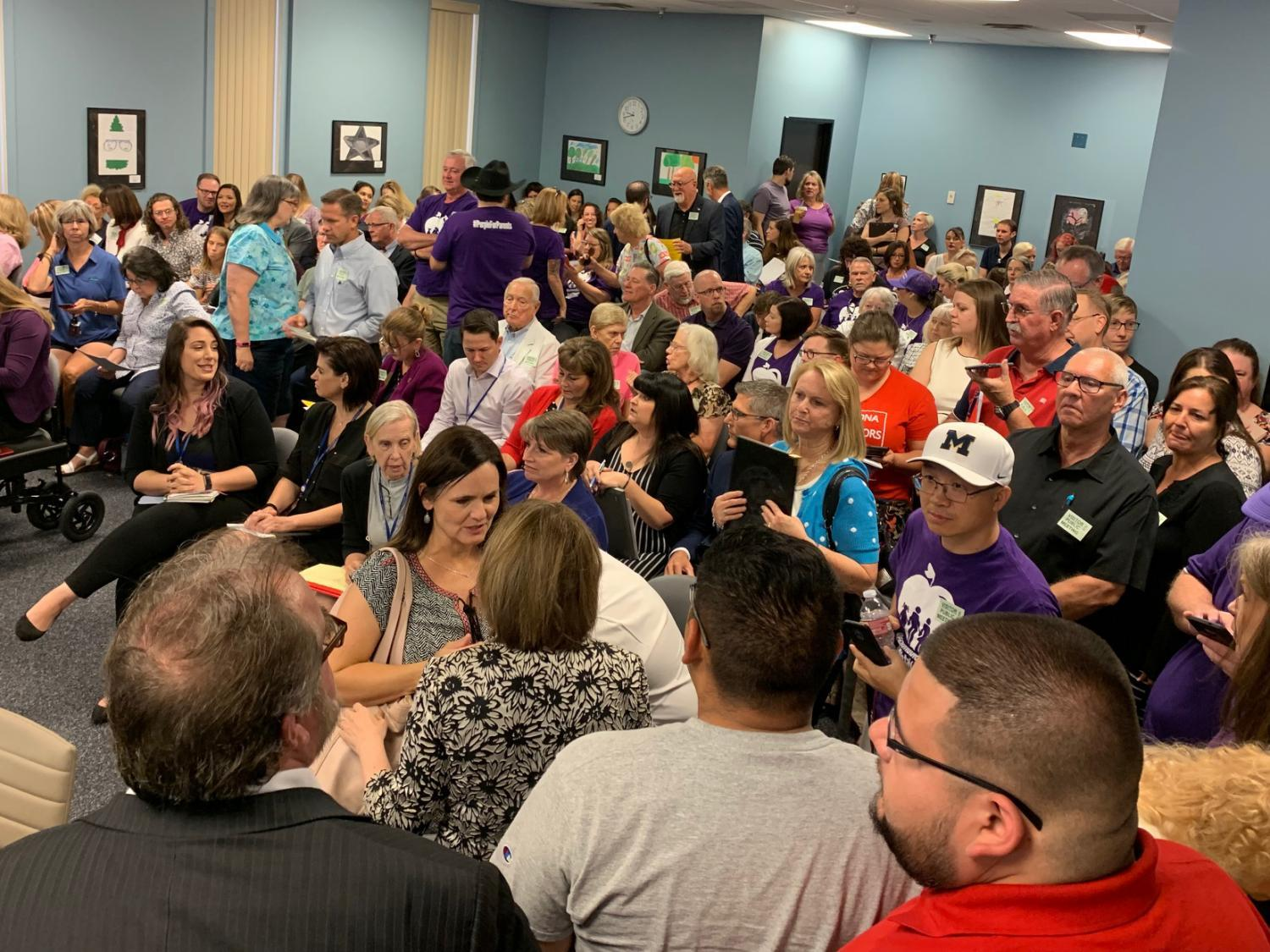 The State Board of Education was at capacity on Monday, June 24, 2019