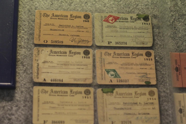 American Legion Post 41 member cards