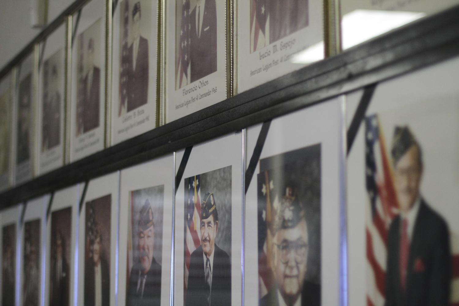 black bands on former Post commanders pictures indicate they have died