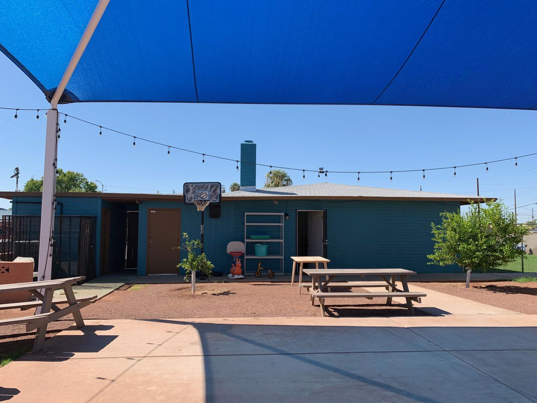 The Heart of Isaac Community Center backyard